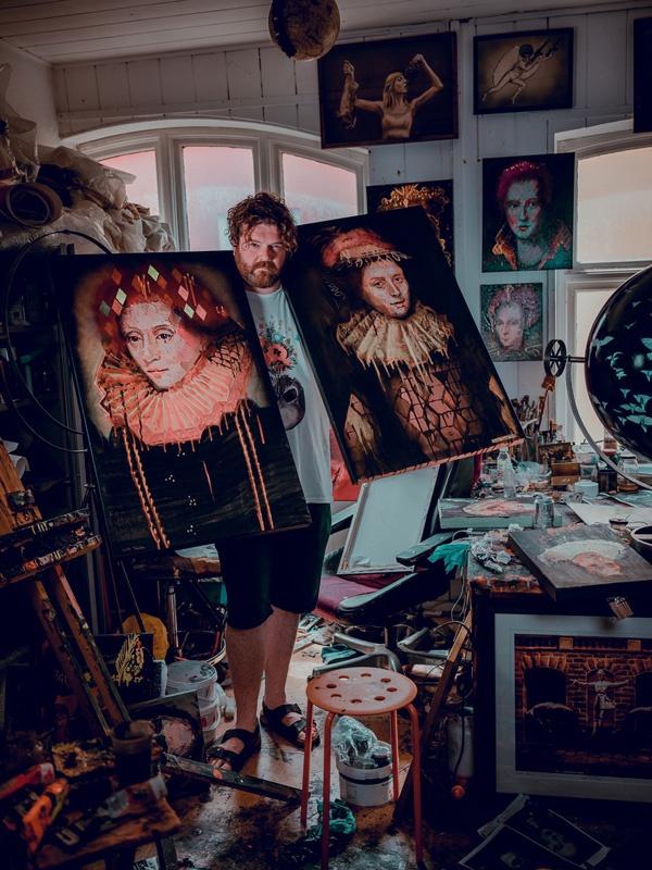 Will Teather in his studio. Credit: Sophie Laslett