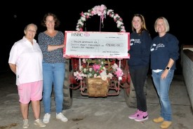 This year's iconic Pink Ladies' Tractor Road Run has smashed the team's fundraising record for a single year and surpass £800,000