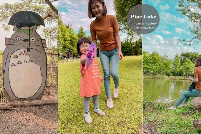 落雨松秘境!超美龍貓綠色隧道,環湖美景,餵兔子餵鴨 – 松湖休閒親子莊園,新竹親子景點