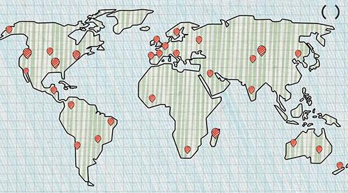 mapamundi doodle