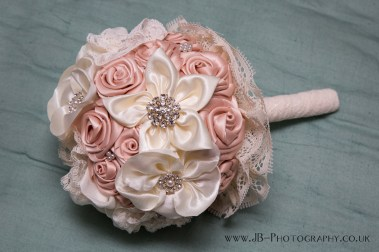 Pink and Ivory Silk Posy Bouquet