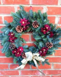 3) Signature Flowers by Emma red and gold wreath