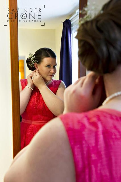 Low Side Bun Bridesmaid Hairstyle