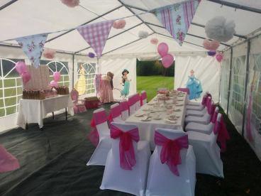 Princess Birthday Party Set Up Pink Tea Parties
