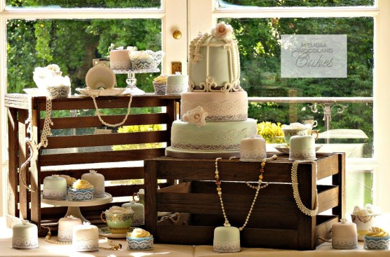 Multiple Wedding Cake Display