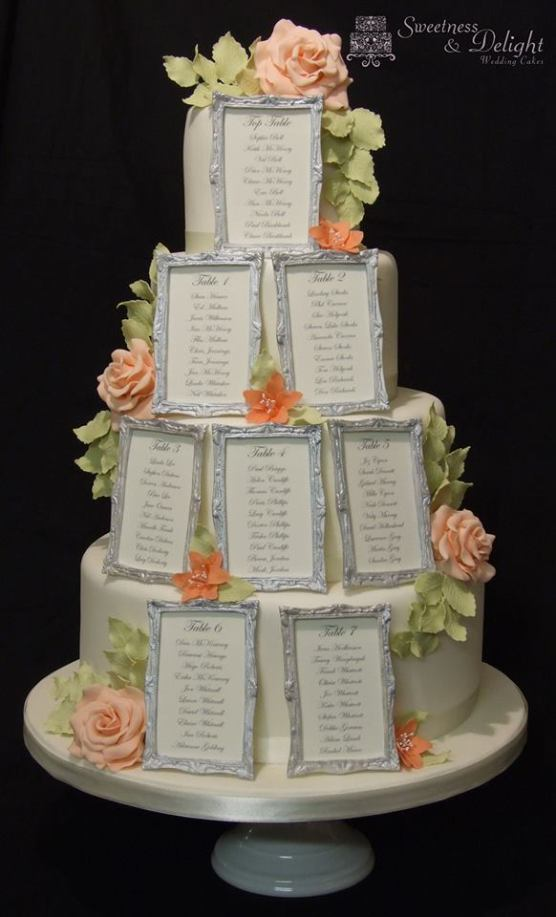 Unique Table Plan Design Innovative Wedding Cake with Edible Table Plan Sweetness and Delight Cakes