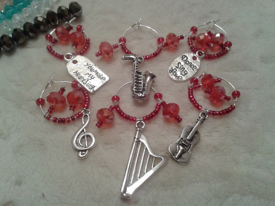 Charms by Joanna red wine glass charms