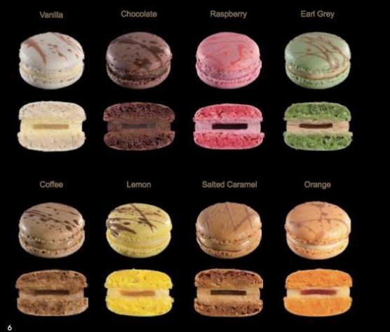 Gelato Heaven Macaron Flavours