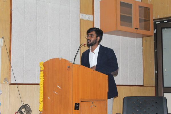Saketh Venkat at IC InnovatorCLUB Meeting at IIT, Delhi