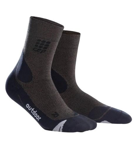 CEP_Outdoor Merino Mid Cut Socks brown