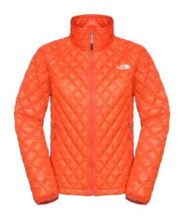 TNF Womens Thermoball Full Zip Jacket _ Spicy Orange