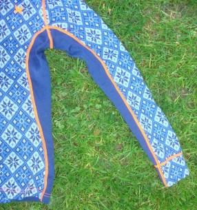 Merinounterwäsche Kari Traa Rose blau Pant und Roundneck1