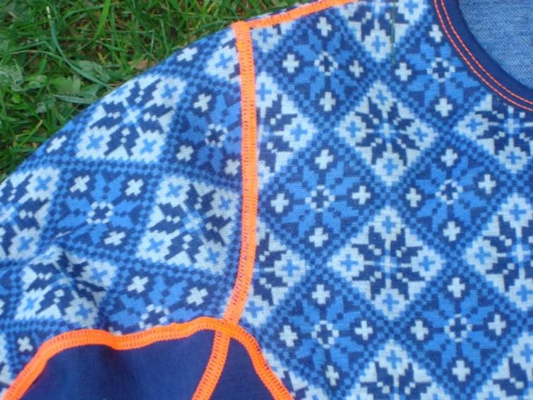 Merinounterwäsche Kari Traa Rose blau Pant und Roundneck9