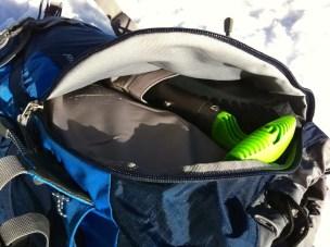 Fronttasche für Schaufel und Sonde
