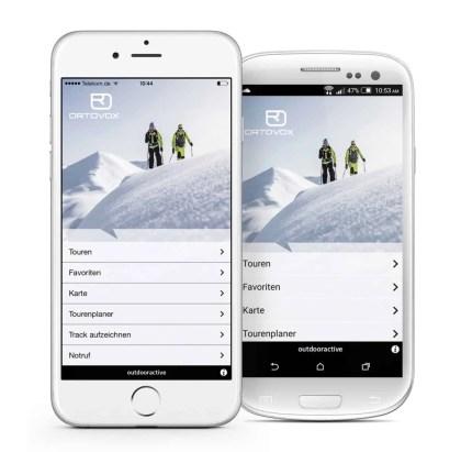 Ortovox Bergtouren App iPhone6-Galaxy2