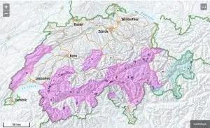Karte Herdenschutzhunde Schweiz