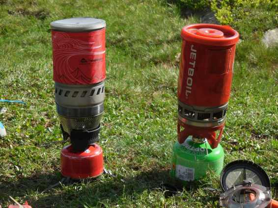 MSR Windboiler vs Jetboil