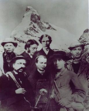 Seilschaft der Erstbesteigung des Matterhorns (14.07.1865)