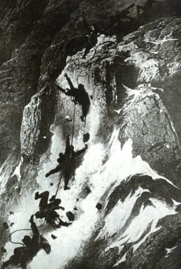 Matterhorn Besteigung Seilriss - gemalt von Gustave Doré