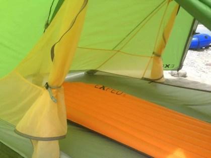 Viel Platz im Zelt