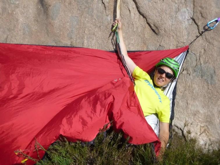Test beim Klettern im Aosta Tal