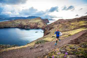 Trail running at Ponta Sao Lourenco on the Madeira Island