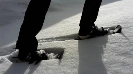 Auch mit Schneeschuhen lässt es sich sehr gut laufen