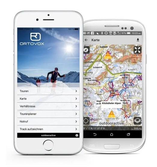 Ortovox Bergtouren App OVX_TourenApp_Startscreen_Lawinenwarnstufe7