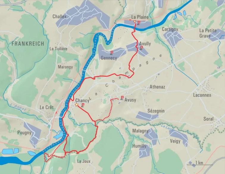 Schoenste Fruehlingstour Genusswanderung La Plaine Chancy 2