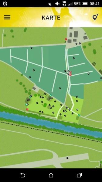 Lageplan des Zeltplatzes