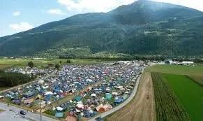 Camping am Openair Gampel