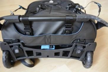 klare Beschriftung/Nummerierung für die Umwandlung von Rolltasche zu Rucksack