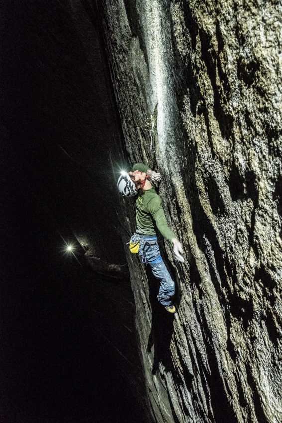 Adam Ondra on his Dawn Wall Push. Crux and Up. Pitch 21