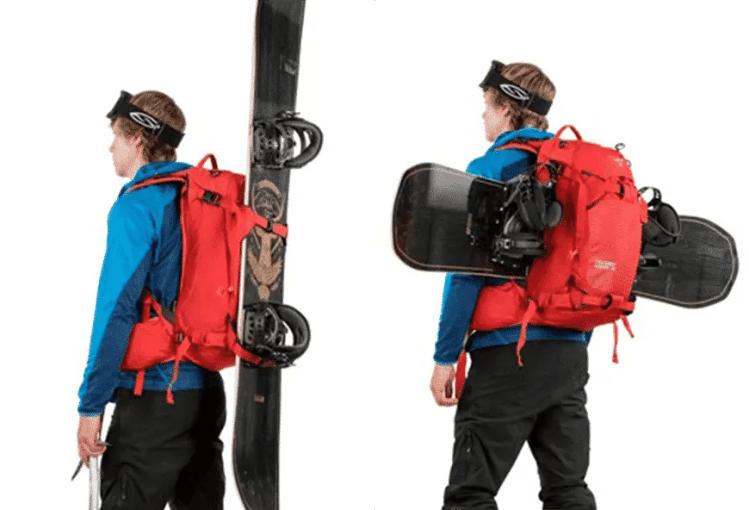 Snowboardtragsystem
