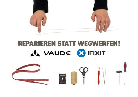 Vaude kooperiert mit Reparatur-Plattform iFixit 1