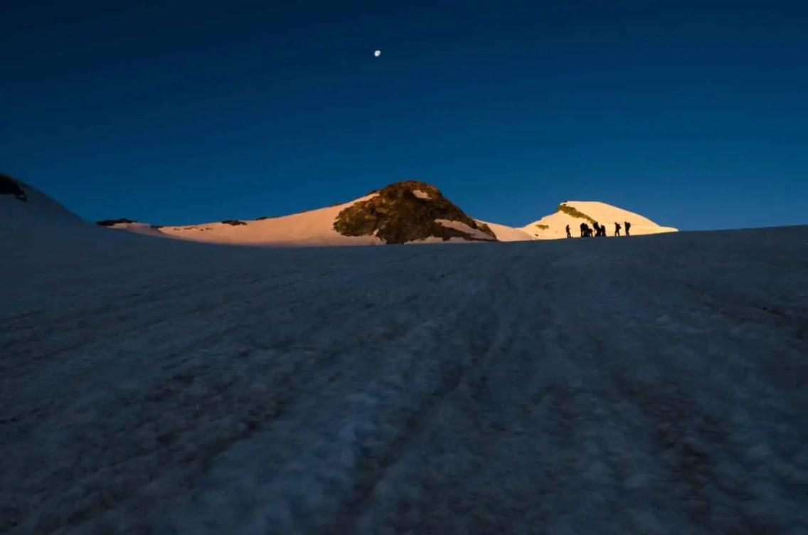 Leichte 4000er Alpen (c)Caroline Fink 130726_046_Hohlaubgrat_Allalinhorn1