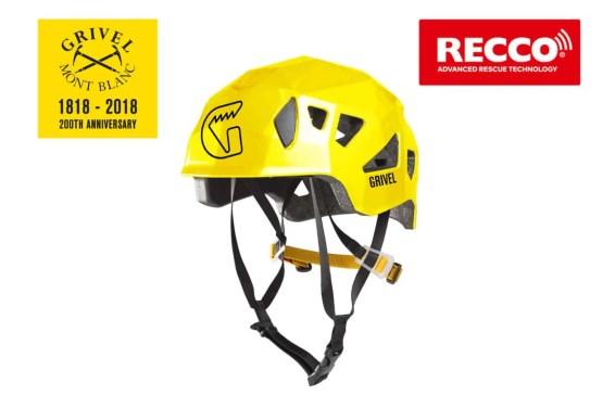GRIVEL_PHL_helmet STEALTH tre quarti fronte yellow recco