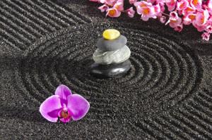Auch das Rechen eines Steingartens kann Zen sein.