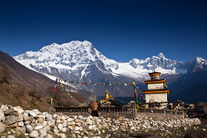 Buddhistischer Templel im Himalaya.