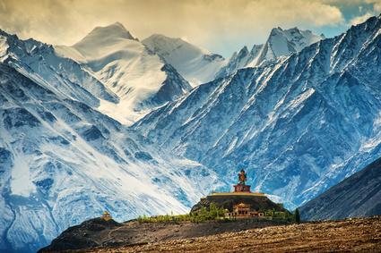 Indien ist der Geburtsort des Buddhismus, hier: Kloster in Ladakh.