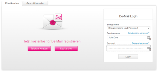 DE-Mail Starter / Bild-/Quelle: Deutsche Telekom
