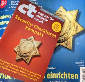 c't Heft und Booklet Security Checklisten / Bild-/Quelle: privat