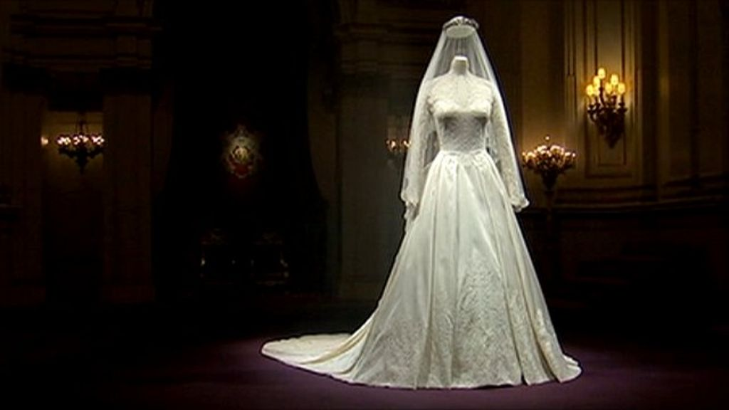Duchess Of Cambridge's Wedding Dress On Display