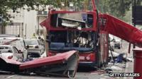 Bombed London bus