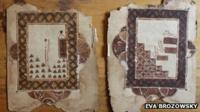two pages of manuscripts