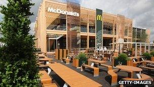 McDonald's restaurant in the Olympic Park in Stratford