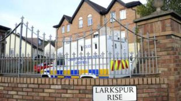 Larkspur Rise road sign