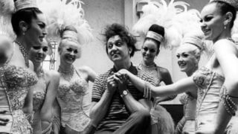 Ken Dodd with the Bluebell Girls, who accompanied him in Blackpool in 1966