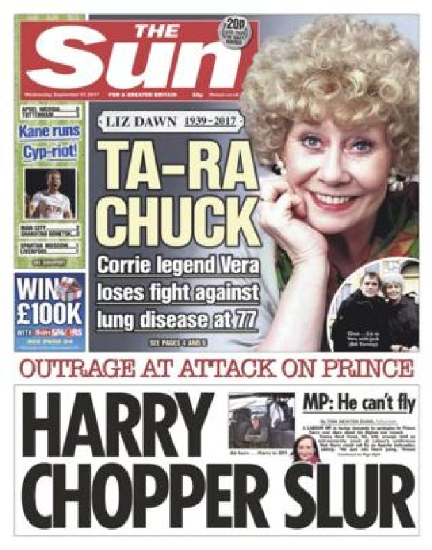 The Sun front - 27/9/17