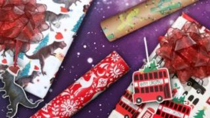 Paperchase Christmas wrapping paper